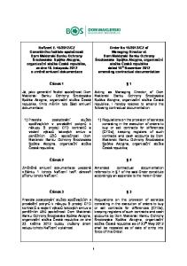 Článek 1. Acting as Managing Director of Dom. Maklerski Banku Ochrony Środowiska