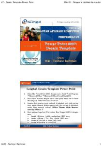 Langkah Desain Template Power Point
