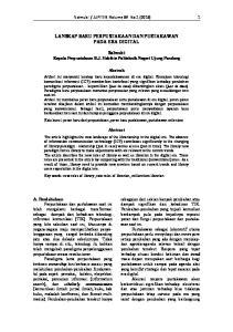 LANSKAP BARU PERPUSTAKAAN DAN PUSTAKAWAN PADA ERA DIGITAL. Salmubi Kepala Perpustakaan B.J. Habibie Politeknik Negeri Ujung Pandang