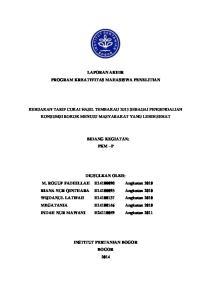 LAPORAN AKHIR PROGRAM KREATIVITAS MAHASISWA PENELITIAN