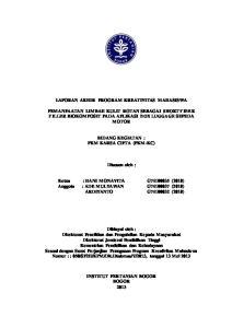 LAPORAN AKHIR PROGRAM KREATIVITAS MAHASISWA