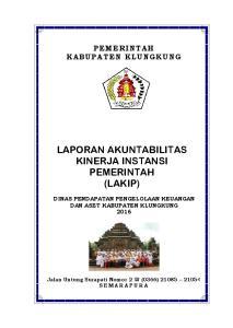 LAPORAN AKUNTABILITAS KINERJA INSTANSI PEMERINTAH (LAKIP)