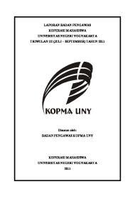 LAPORAN BADAN PENGAWAS KOPERASI MAHASISWA UNIVERSITAS NEGERI YOGYAKARTA TRIWULAN III (JULI SEPTEMBER) TAHUN 2011