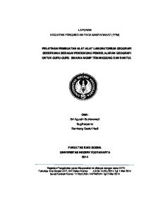 LAPORAN KEGIATAN PENGABDIAN PADA MASYARAKAT (PPM)