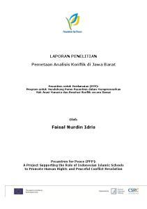 LAPORAN PENELITIAN. Pemetaan Analisis Konflik di Jawa Barat