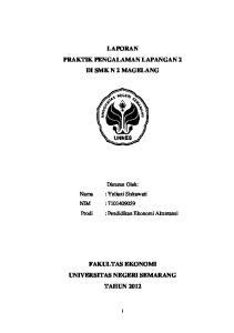 LAPORAN PRAKTIK PENGALAMAN LAPANGAN 2 DI SMK N 2 MAGELANG