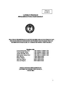 LAPORAN PROGRAM PENGABDIAN PADA MASYARAKAT