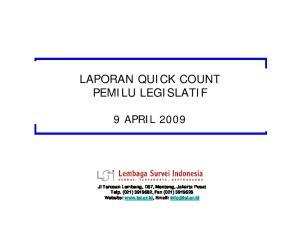 LAPORAN QUICK COUNT PEMILU LEGISLATIF
