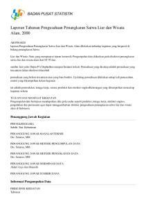 Laporan Tahunan Pengusahaan Penangkaran Satwa Liar dan Wisata Alam, 2000