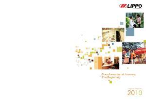 Laporan Tahunan. Transformational Journey: The Beginning