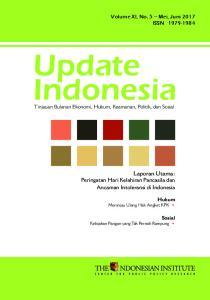 Laporan Utama: Peringatan Hari Kelahiran Pancasila dan Ancaman Intoleransi di Indonesia. Volume XI, No. 5 Mei, Juni 2017 ISSN