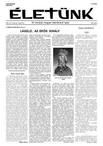 LÁSZLÓ, AZ ERŐS KIRÁLY