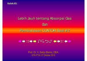 Lebih Jauh tentang Absorpsi Gas dan Pembahasan CONTOH: Soal #2