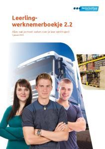 Leerlingwerknemerboekje