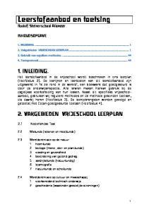Leerstofaanbod en toetsing Rudolf Steinerschool Alkmaar