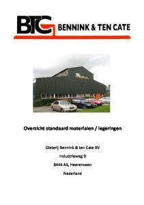 legeringen. Gieterij Bennink & ten Cate BV. Industrieweg AS, Heerenveen. Nederland