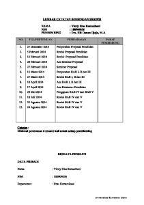 LEMBAR CATATAN BIMBINGAN SKRIPSI. : Vindy Elsa Ramadhani NIM : PEMBIMBING : Drs. HR Danan Djaja, M.A