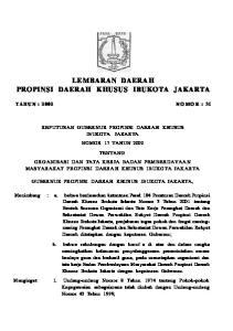 LEMBARAN DAERAH PROPINSI DAERAH KHUSUS IBUKOTA JAKARTA