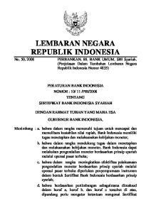 LEMBARAN NEGARA REPUBLIK INDONESIA PERBANKAN. BI. BANK UMUM. SBI Syariah. (Penjelasan Dalam Tambahan Lembaran Negara Republik Indonesia Nomor 4835)
