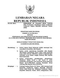 LEMBARAN NEGARA REPUBLIK INDONESIA