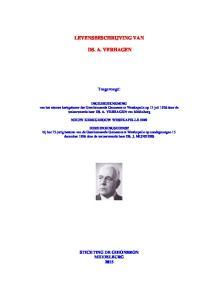 LEVENSBESCHRIJVING VAN DS. A. VERHAGEN