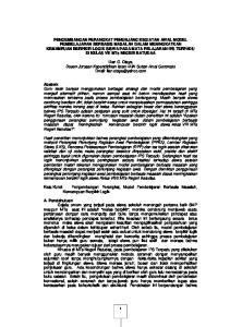 Lian G. Otaya Dosen Jurusan Kependidikan Islam IAIN Sultan Amai Gorontalo