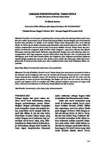 LINGKAR STRUKTUR NOVEL TARIAN SETAN Circular Structure of Tarian Setan Novel