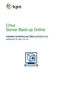 Linux Server Back-up Online