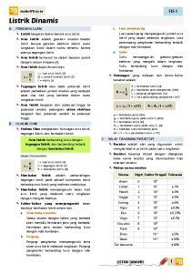 Listrik Dinamis FIS 1 A. PENDAHULUAN. ρ = ρ o (1 + αδt) B. HUKUM OHM C. NILAI TAHANAN RESISTOR LISTRIK DINAMIS. materi78.co.nr. c