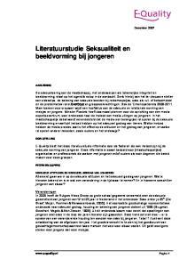 Literatuurstudie Seksualiteit en beeldvorming bij jongeren