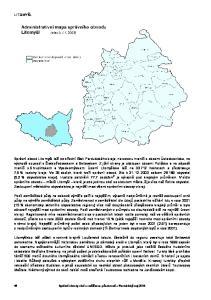 LITOMYŠL. Správní obvody obcí s rozšířenou působností Pardubický kraj 2004