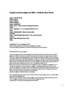 Liturgie en preek zondag 2 mei 2010 intrede ds. Duurt Vonck