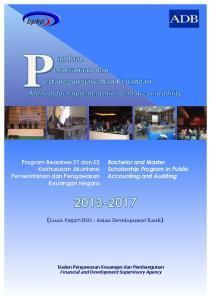 (Loan #2927-INO - Asian Development Bank) Program Beasiswa S1 dan S2 Kekhususan Akuntansi Pemerintahan dan Pengawasan Keuangan Negara