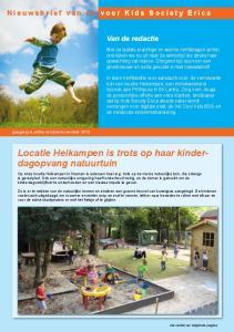 Locatie Heikampen is trots op haar kinderdagopvang