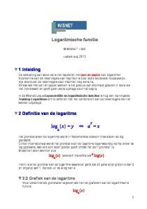 Logaritmische functie