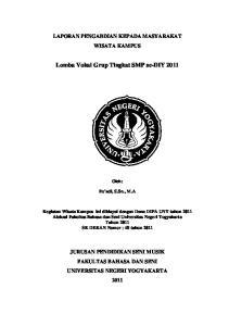Lomba Vokal Grup Tingkat SMP se-diy 2011