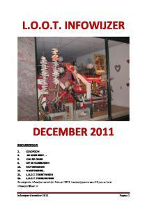 L.O.O.T. INFOWIJZER DECEMBER 2011