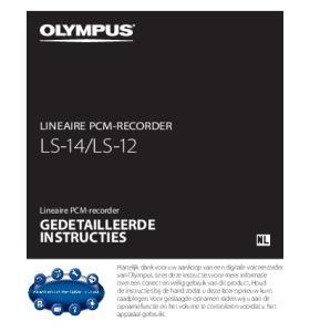 LS-12 GEDETAILLEERDE INSTRUCTIES LINEAIRE PCM-RECORDER
