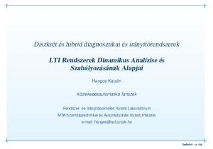 LTI Rendszerek Dinamikus Analízise és Szabályozásának Alapjai