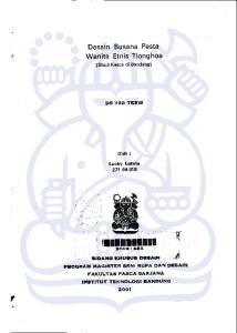 ltttmriltil Desain Busana Pesta Wanita Etnis Tionghoa tfi.7 '.r,. tldtilc xtlutul D3tAfil..., i*f] (Studi Kasus di Bandungl DS 72O TESIE Oleh :