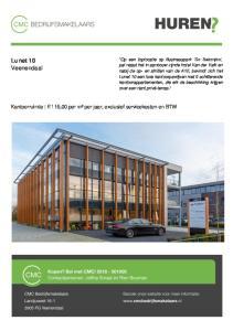 Lunet 10 Veenendaal. Kantoorruimte 115,00 per m² per jaar, exclusief servicekosten en BTW
