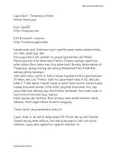 Lupus Kecil - Terserang si Ehem Hilman Hariwijaya. Djvu: dewikz  Edit & Convert: inzomnia