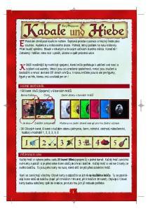 Lutz Stepponat Cílových karet, 6 karet v každém oboru (alchymie, šerm, rolnictví, obchod, náboženství, hudba) v hodnotě 1, 2, 3, 3, 4, 5