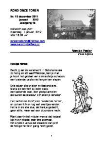 m: maandag 9 januari 2012 vóór 18