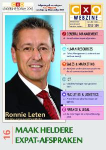 MAAK HELDERE EXPAT AFSPRAKEN Ronnie Leten WEBZINE Webzine For Executives Decision Makers GENERAL MANAGEMENT HUMAN RESOURCES SALES MARKETING ICT
