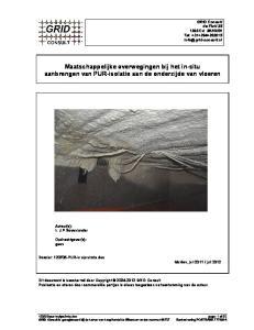 Maatschappelijke overwegingen bij het in-situ aanbrengen van PUR-isolatie aan de onderzijde van vloeren