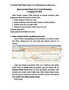 Macromedia Flash 8.0 Untuk Membuat Company Profile