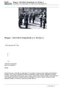 Magyar - USA titkos tárgyalások a II. VH-ban 3
