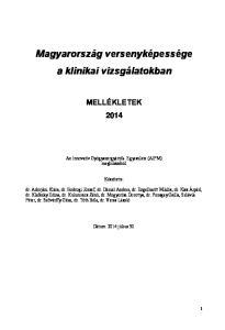 Magyarország versenyképessége a klinikai vizsgálatokban