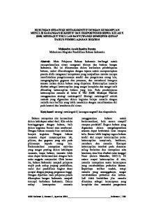 Mahendra Aswit Sandra Barata Mahasiswa Magister Pendidikan Bahasa Indonesia